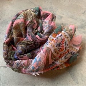 Sole / Society lightweight floral scarf